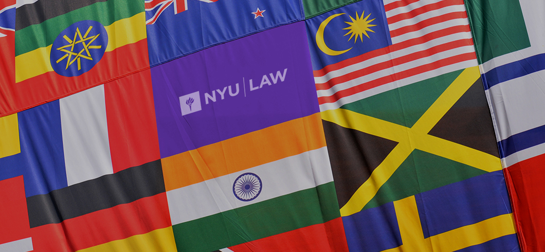 International flags and the NYU flag