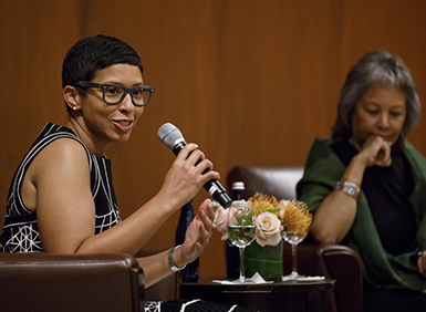 Melissa Murray speaking at event