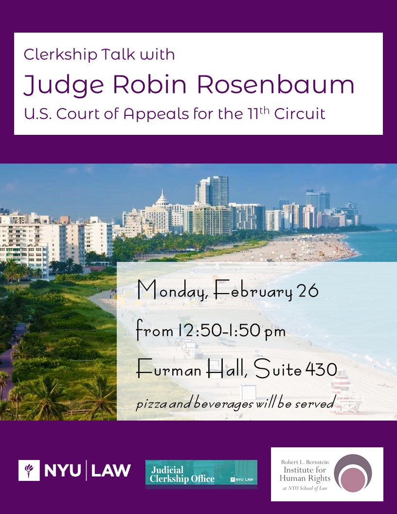 Judge Rosenbaum Talk Poster