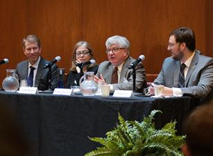 (Left to Right) Dean Trevor Morrison, Gillian Metzger, Michael McConnell, and Adam White