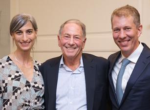 Rachel Goldbrenner, Rick Reiss, and Trevor Morrison