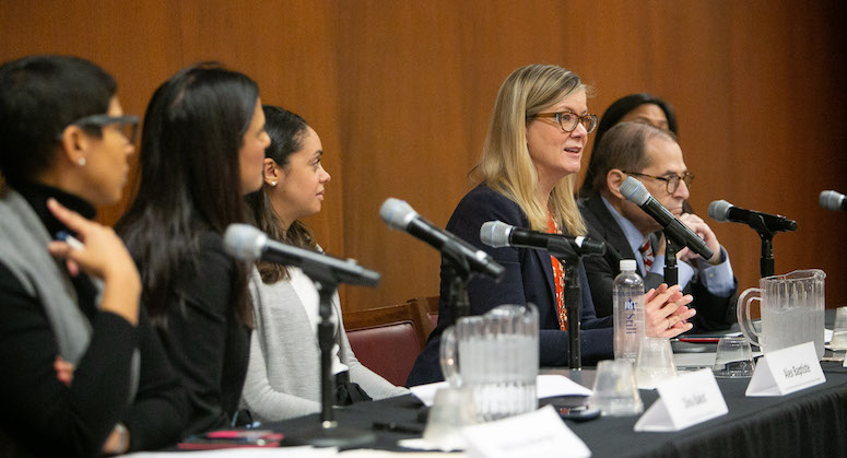 Panelists during BWLN's pregnancy discrimination event
