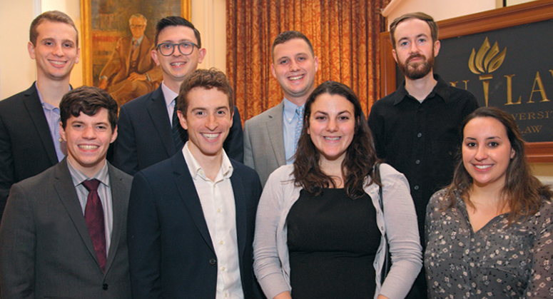 Wilf Scholars with NYU Law Trustee Elana Wilf Tanzman '12