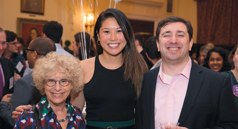 West Family Scholar Rona Li '19 with Isabel Davis and David Harris '10