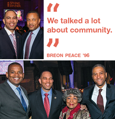 """We talked a lot  about community."" Breon Peace '96"