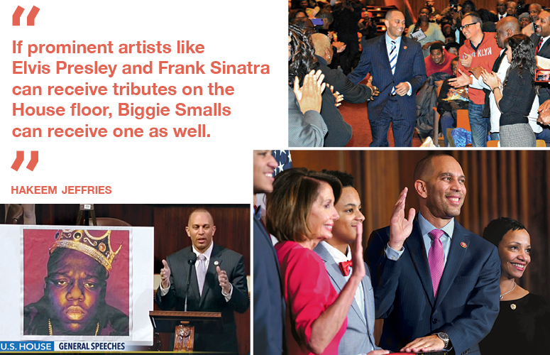 """If prominent artists like Elvis Presley and Frank Sinatra can receive tributes on the  House floor, Biggie Smalls  can receive one as well."" Hakeem Jeffries"