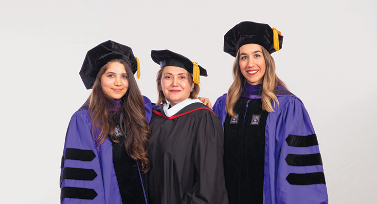 A.H. Amirsaleh Scholars Selene Nafisi and Ava Haghighi were hooded by Fran Amirsaleh