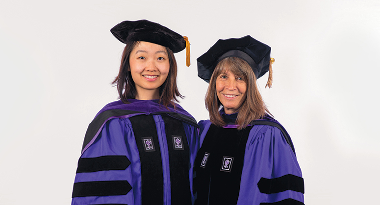 Doris C. and Alan J. Freedman Scholar (Root-Tilden-Kern Program) Grace Li was hooded by NYU Law Trustee Karen Freedman '80
