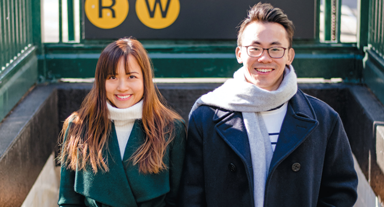Chew Fei Phang LLM '20 with her spouse, Mark Hee LLM '17