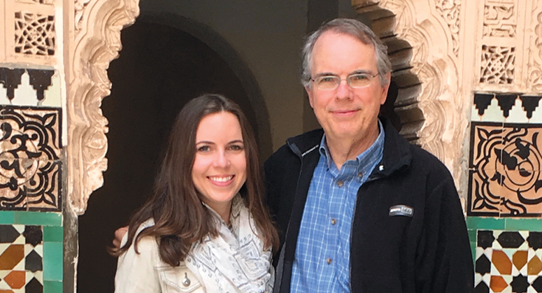 Molly Henneberry '20, NYU School of Law Dean's Scholar and Morton E. Yohalem  Memorial Scholar, with her father, Jay Henneberry '82