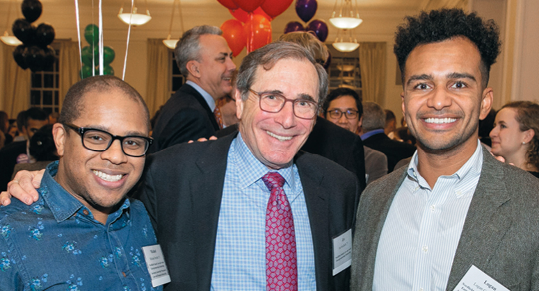 NORDLICHT FAMILY LAW AND SOCIAL ENTREPRENEURSHIP SCHOLARS (Grunin Center for Law and Social Entrepreneurship) Michael Strother '21 and Logan Cotton '22 with Ira Nordlicht '72