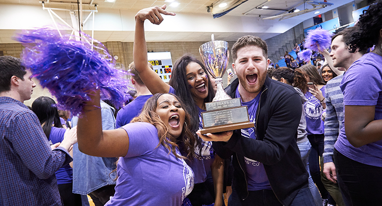 NYU Law students with Dean's Cup trophy
