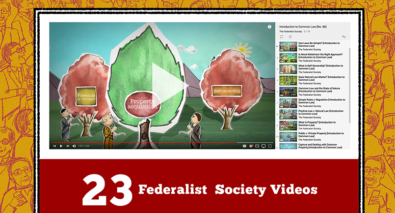 Screenshot of Federalist Society Video on YouTube