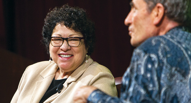 Justice Sonia Sotomayor in conversation with Albie Sachs at the Guarini Institute Launch event
