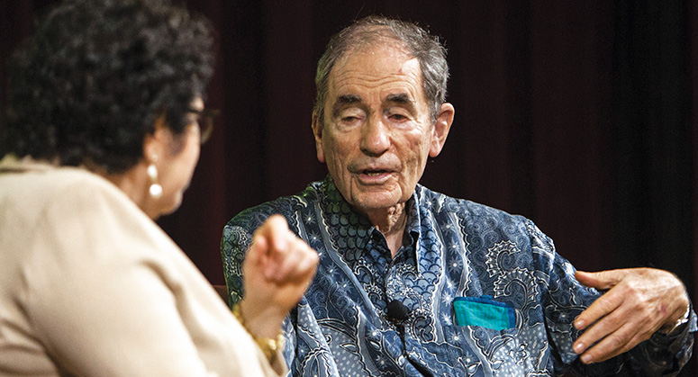 Albie Sachs in conversation with Justice Sonia Sotomayor at the Guarini Institute Launch Event