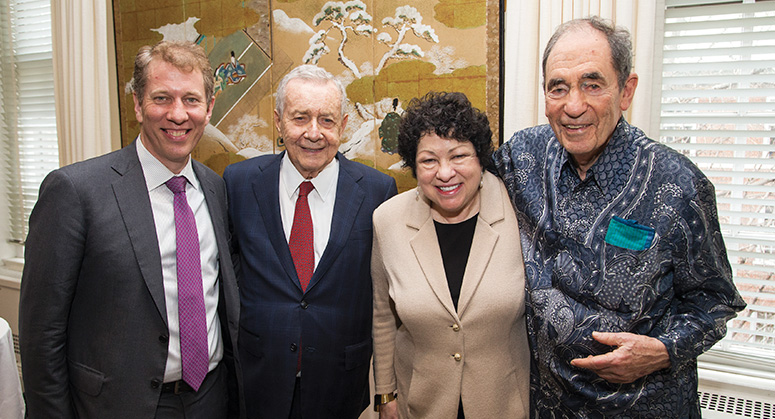 Dean Trevor Morrison, Frank Guarini, Justice Sonia Sotomayor and Albie Sachs together