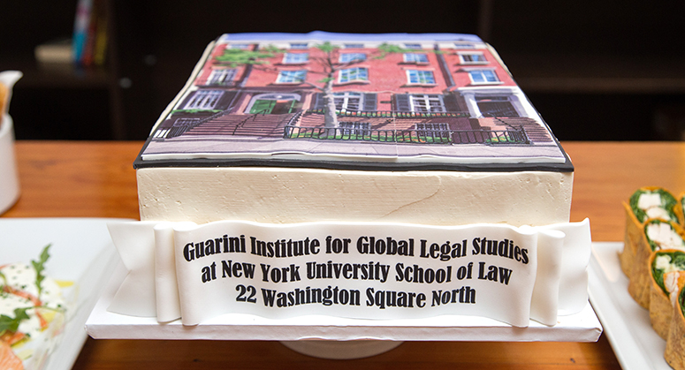 Cake in the shape of the Guarini Institute