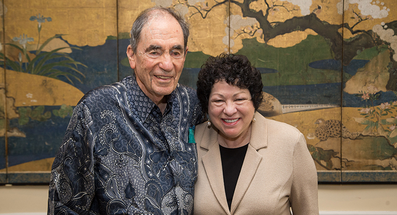 Albie Sachs with Sonya Sotomayor