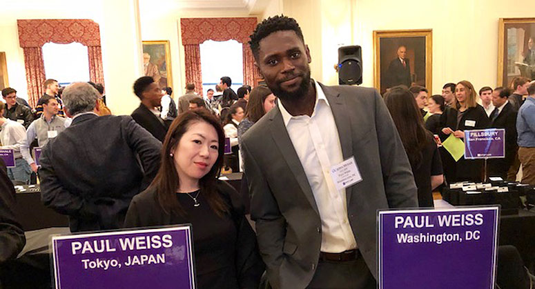 Firm attorneys (one NYU Law Alumnus) at NYU Global Event