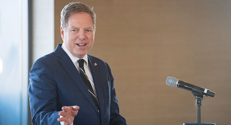 Geoffrey Berman, U.S. Attorney, Southern District of New York, U.S. Department of Justice delivering the final keynote speech
