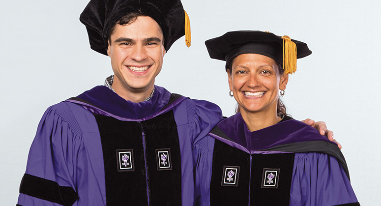 Latinx Rights Scholar Robert Hunter was hooded by Assistant Dean Lisa Hoyes '99