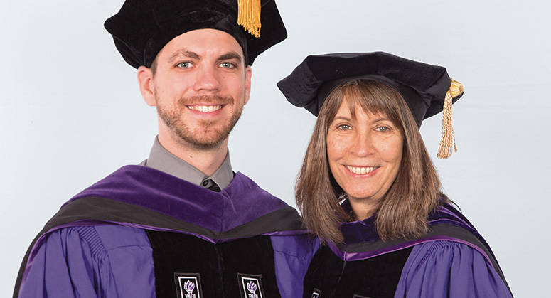 Doris C. and Alan J. Freedman Scholar (Root-Tilden-Kern Program) Tyler Walton was hooded by NYU Law Trustee Karen Freedman '80