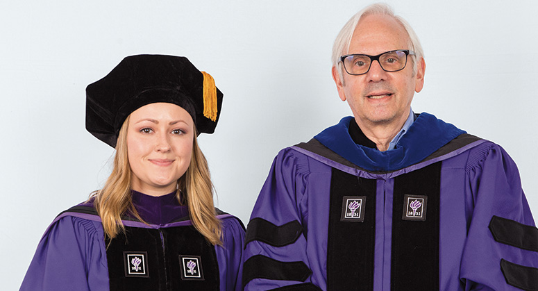 Rosenfeld Macaulay Pipeline Scholar Yekaterina Fomitcheva was hooded by NYU Law Trustee and Professor Gerald Rosenfeld