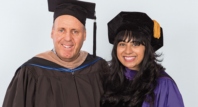 Adolph H. Siegel Scholar Neelofer Shaikh was hooded by William Siegel
