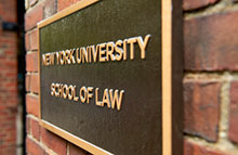 NYU Law Building Plaque