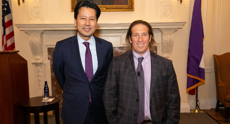 Kenji Yoshino and Jeremy Bailenson at the Speaker Series Event