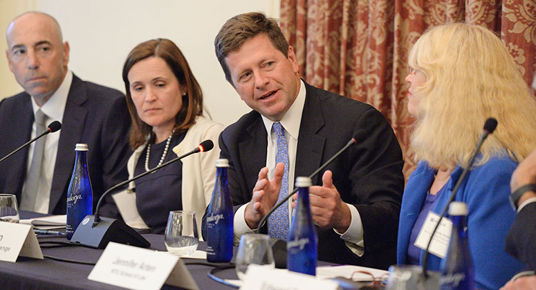 Chair Jay Clayton of the U.S. Securities and Enforcement Commission speaks on September 5, 2018 panel