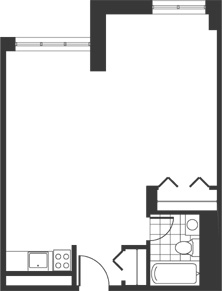 Floor plan for apartment type A