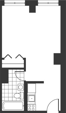 Floor plan for apartment type D