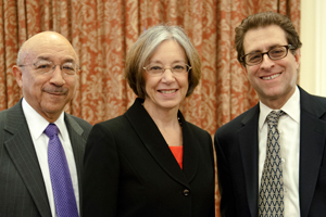 (L to R) Judge Harry Edwards, Judge Diane Wood, Barry Friedman