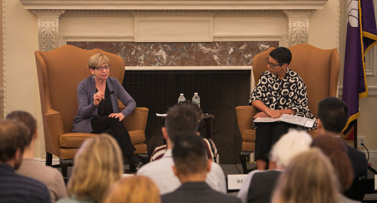 EEOC Commissioner Feldblum and Professor Murray have a discussion.jpg