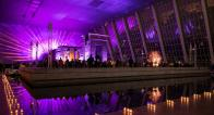 Weinfeld Gala 2019 at Metropolitan Museum of Art, diner tables around Temple of Dendur