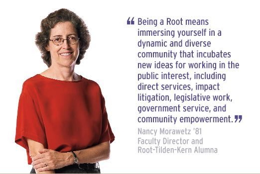 RTK Faculty Director Nancy Morawetz with quote