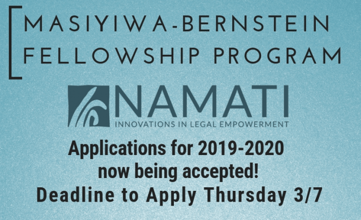 Masiyiwa-Bernstein Applications for Namati now being accepted