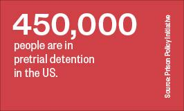 450,000 people are in pretrial detention in the US.