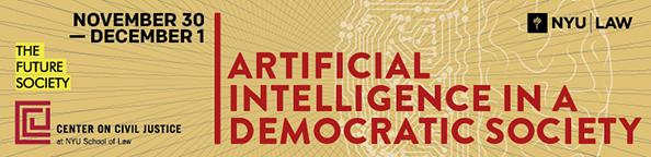 AI in a Democratic Society Banner