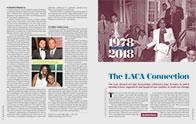 Opening spread of LACA feature