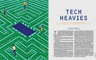 Opening spread of Tech GC feature story