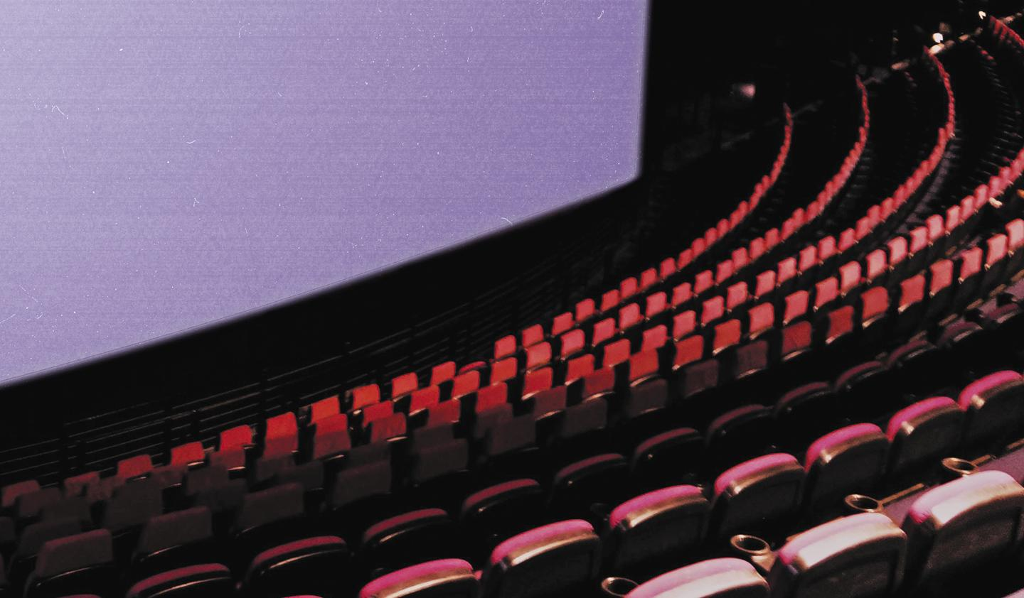 Cinema seating and screen