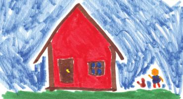 Child's drawing of a house