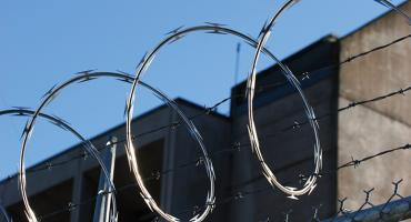 Barbed wire at Corrections facility