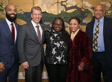 Vincent Sutherland, Dean Trevor Morrison, Angela Onwuachi-Willig, Janet Bell and Tony Thompson