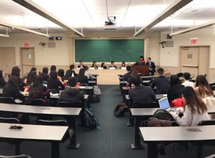 APALSA student panel in classroom