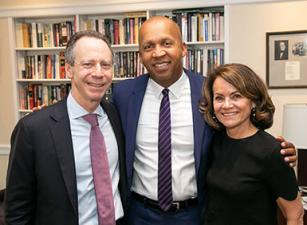 Bryan Stevenson with Jeffrey and Shari Aronson