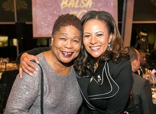 Paulette Caldwell and Lisa Marie Boykin at the BALSA 50th Anniversary event