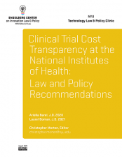 Clinical Trial Cost Transparency at the NIH Cover